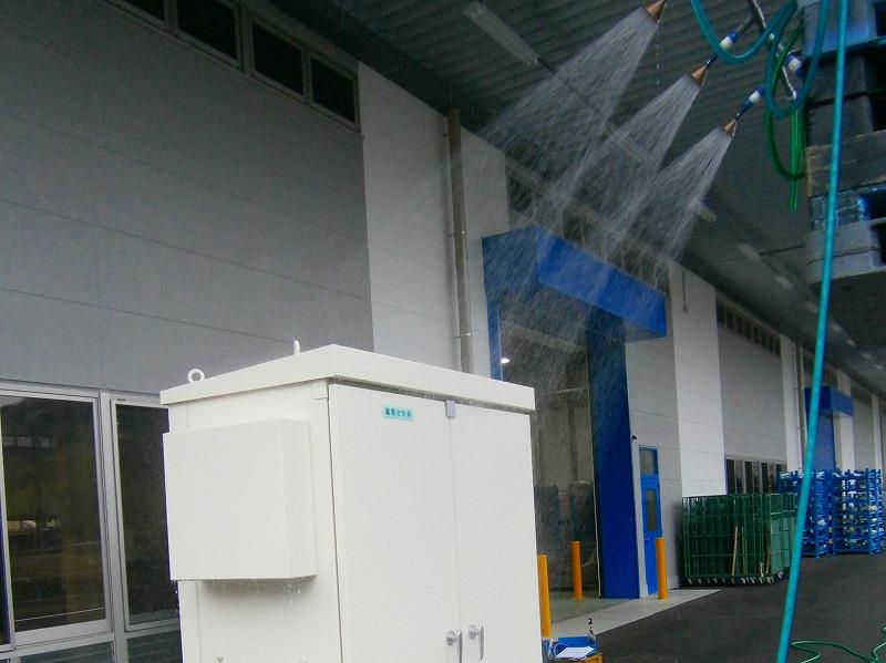 盤への防水試験(IP44)