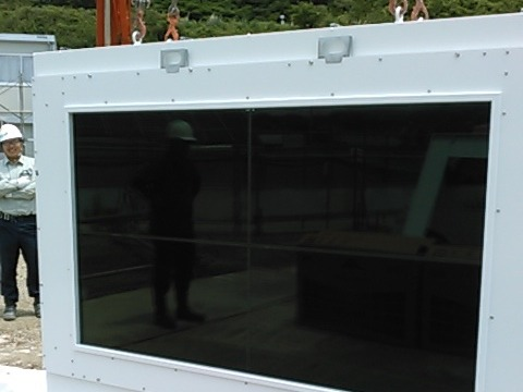 工事現場で使用される指示用デジタルサイネージ