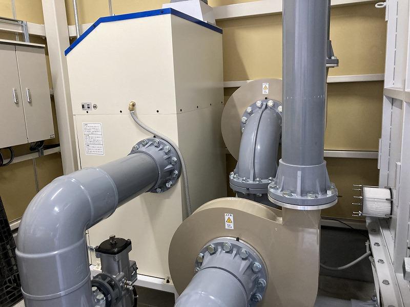 防塵試験用の粉塵吐出・回収を行う装置